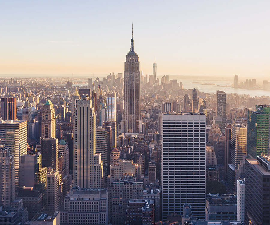 A photo of New York City