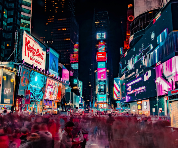A photo of Times Square in New York City