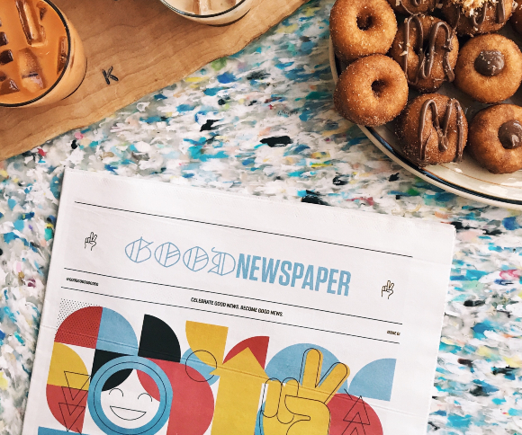 A photo of a social media marketing trends 2019 Newspaper on a desk